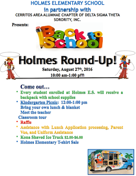 Holmes Back to School Round Up